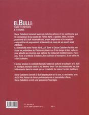 El Bulli : Texte Et Pretexte A Textures - 4ème de couverture - Format classique
