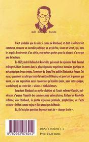 Rimbaud le voyant - 4ème de couverture - Format classique