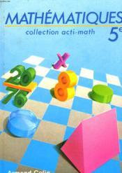 Mathématiques 5e - Couverture - Format classique