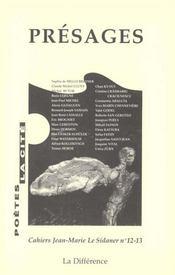 Presages N 12-13 Cahiers Le Sidaner - Intérieur - Format classique