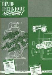 Revue Technique Automobile - N° 216 - Couverture - Format classique