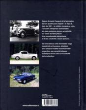 Les Peugeot de collection - 4ème de couverture - Format classique
