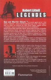 Legendes - 4ème de couverture - Format classique