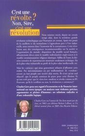 C'est une revolte ? non, sire, c'est une revolution ! - 4ème de couverture - Format classique