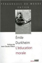 L'éducation morale - Couverture - Format classique