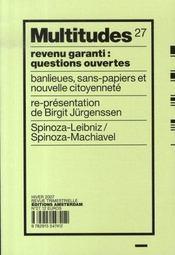 REVUE MULTITUDES ; multitudes t.27 ; revenu garanti : questions ouvertes - Intérieur - Format classique