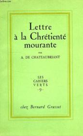 Lettre A La Chretiente Mourante - Couverture - Format classique