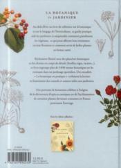 La botanique du jardinier amateur - 4ème de couverture - Format classique