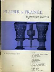Plaisir De France Supplement Theatral N°337 - Couverture - Format classique