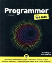 Programmer pour les nuls (4e édition) - Couverture - Format classique