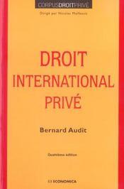 Droit international prive (4e edition) - Intérieur - Format classique