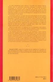 Droit international prive (4e edition) - 4ème de couverture - Format classique