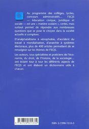 Dictionnaire Education Civique Juridique Et Sociale - 4ème de couverture - Format classique
