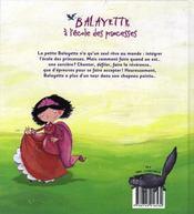 Balayette à l'école des princesses - 4ème de couverture - Format classique
