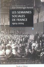 Semaines Sociales De France - Intérieur - Format classique