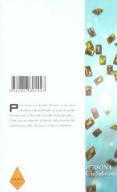Persona t.3 - 4ème de couverture - Format classique