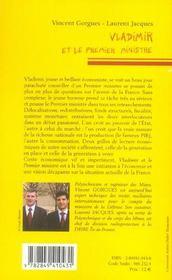 Vladimir Et Le Premier Ministre - 4ème de couverture - Format classique