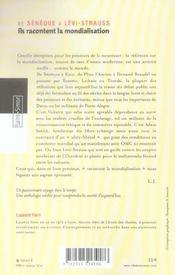 Ils Racontent La Mondialisation - De Seneque A Levi-Strauss - 4ème de couverture - Format classique