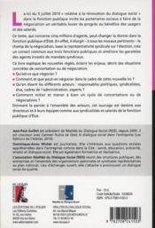 Faire vivre le dialogue social dans la fonction publique d'Etat - 4ème de couverture - Format classique