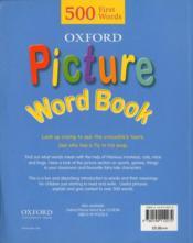 Picture word book - 4ème de couverture - Format classique