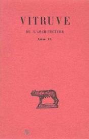 De l'architecture L9 - Couverture - Format classique
