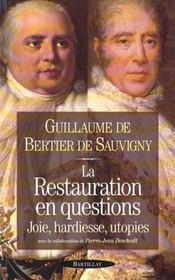 Restauration en questions - Intérieur - Format classique