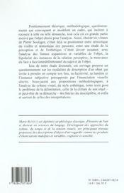 Semiotique Et Perception Esthetique - 4ème de couverture - Format classique