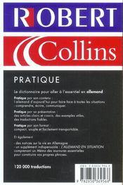 Le Robert & Collins Pratique. Allemand - 4ème de couverture - Format classique