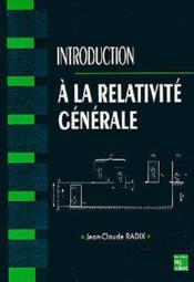 Introduction a la relativite generale - Couverture - Format classique