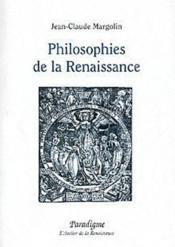 Philosophies de la renaissance - Couverture - Format classique