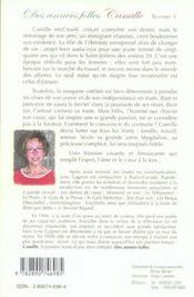 Annees Folles (Des) Tome 1 Camille - 4ème de couverture - Format classique