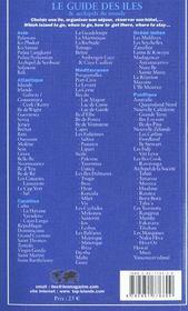 Guide Des Iles ; Edition 2002 - 4ème de couverture - Format classique