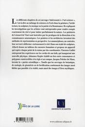 Arts Et Sciences A La Renaissance - 4ème de couverture - Format classique