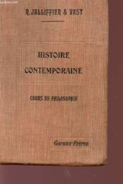Histoire Contemporaine - Cours De Philosophie. - Couverture - Format classique