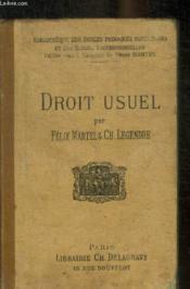 Droit Usuel - Couverture - Format classique