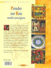 Peindre Sur Bois. Motifs Norvegiens - 4ème de couverture - Format classique