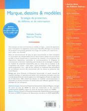 Marque Dessins Et Modeles ; 1e Edition - 4ème de couverture - Format classique