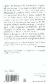 Le Domaine De Rocheveyre - 4ème de couverture - Format classique