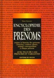 Encyclopedie Des Prenoms - Couverture - Format classique