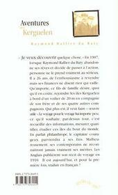 Aventures aux kerguelen - 4ème de couverture - Format classique