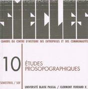 Siecles, n 10/1999. etudes prosopographiques - Intérieur - Format classique
