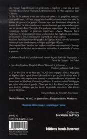 Madame Royal - 4ème de couverture - Format classique
