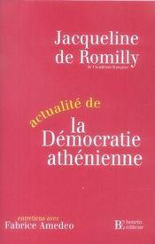 Actualité de la démocratie athénienne - Intérieur - Format classique