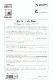 Le Livre Du Moi ; Exprimer Ses Emotions - 4ème de couverture - Format classique