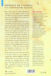 Presence de l'au-dela une vision medievale du monde - 4ème de couverture - Format classique