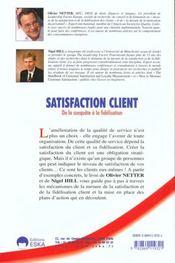 Satisfaction Client - 4ème de couverture - Format classique