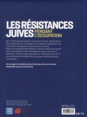 Les résistances juives en France pendant l'Occupation - 4ème de couverture - Format classique