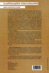 La philosophie interculturelle ; penser autrement le monde - 4ème de couverture - Format classique