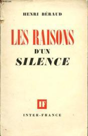 Les Raisons D Un Silence - Couverture - Format classique
