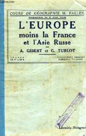 L'EUROPE (MOINS LA FRANCE) ET L'ASIE RUSSE, CLASSES DE 4e A ET B, ENSEIGNEMENT PRIMAIRE SUPERIEUR, 2e ANNEE - Couverture - Format classique